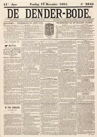 De Denderbode 1885-12-13
