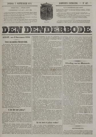 De Denderbode 1854-09-03