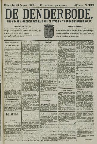 De Denderbode 1891-08-27