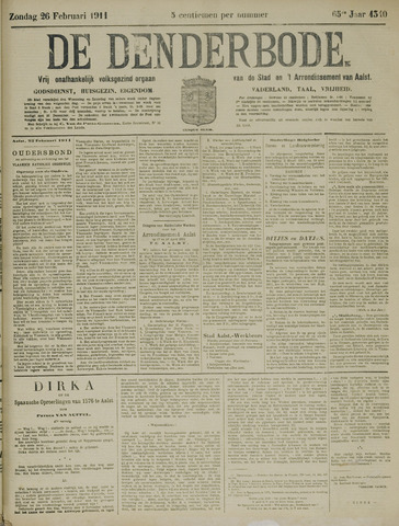 De Denderbode 1911-02-26
