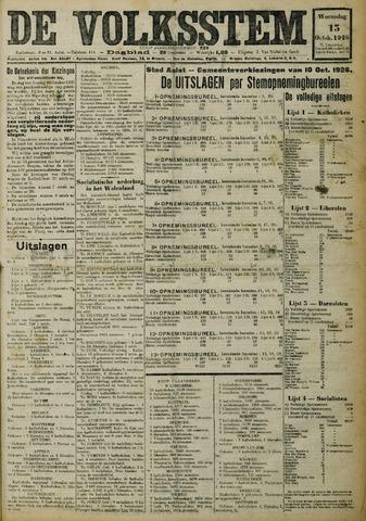 De Volksstem 1926-10-13