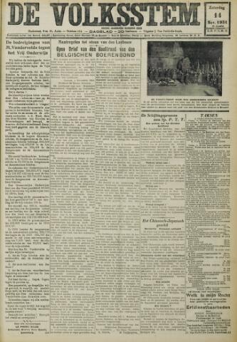 De Volksstem 1931-11-14