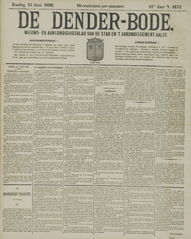 De Denderbode 1890-06-15