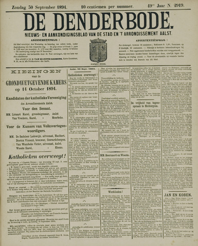 De Denderbode 1894-09-30