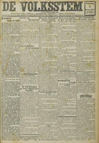 De Volksstem 1931-10-01