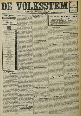 De Volksstem 1926-09-15