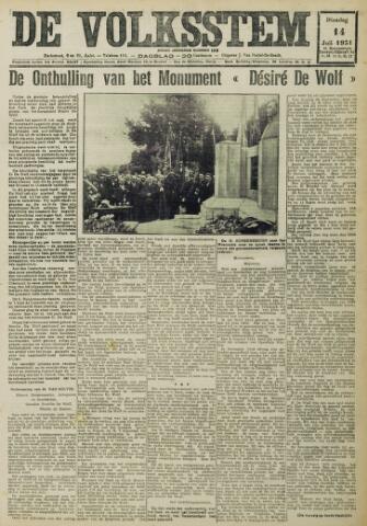 De Volksstem 1931-07-14