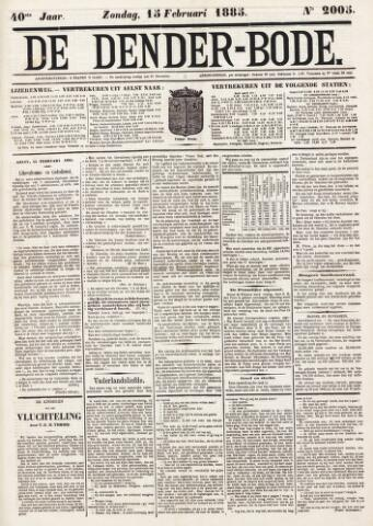 De Denderbode 1885-02-15