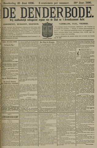De Denderbode 1896-06-25
