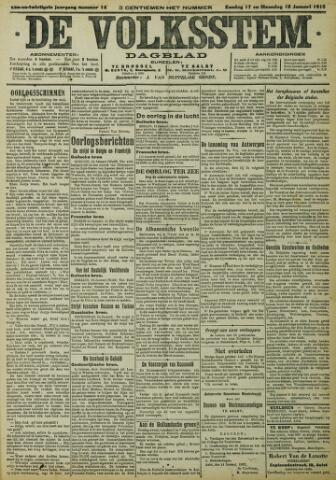 De Volksstem 1915-01-17