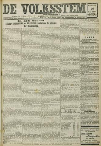 De Volksstem 1931-02-26