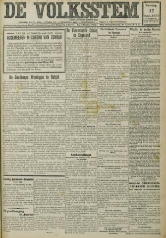 De Volksstem 1931-10-17