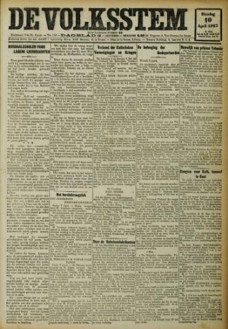 De Volksstem 1923-04-10