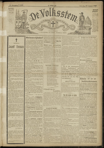 De Volksstem 1907-01-19