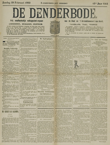 De Denderbode 1912-02-18