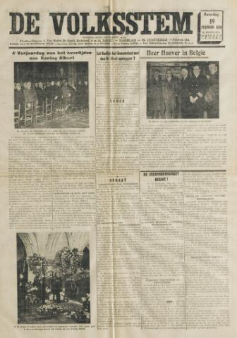 De Volksstem 1938-02-19
