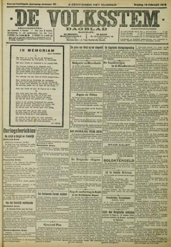 De Volksstem 1915-02-12
