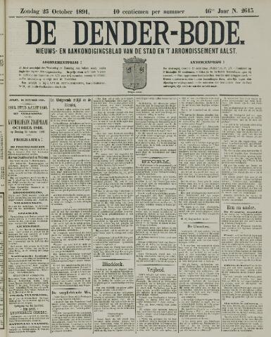 De Denderbode 1891-10-25
