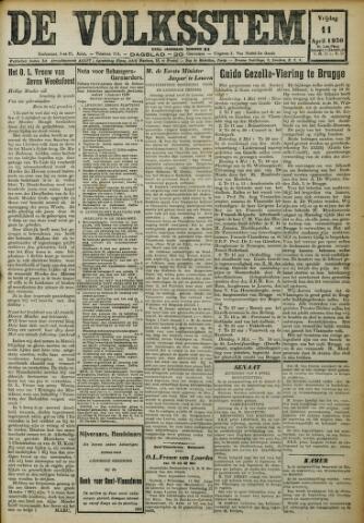 De Volksstem 1930-04-11