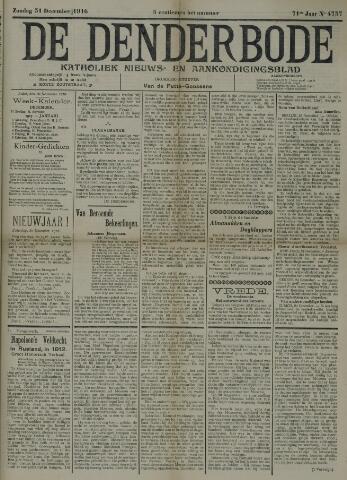 De Denderbode 1916-12-31
