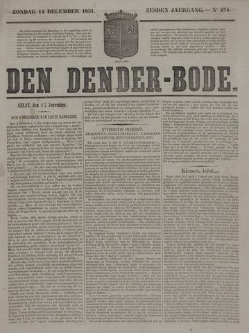 De Denderbode 1851-12-14