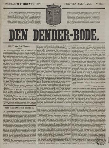 De Denderbode 1847-02-21