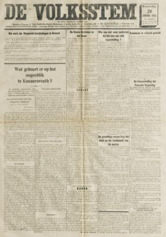 De Volksstem 1938-01-20