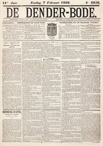 De Denderbode 1886-02-07