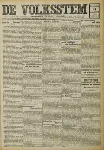 De Volksstem 1926-01-21