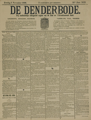 De Denderbode 1896-11-01
