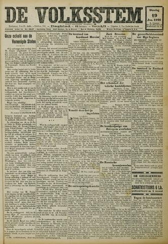 De Volksstem 1926-01-19