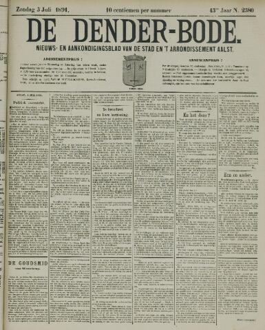 De Denderbode 1891-07-05