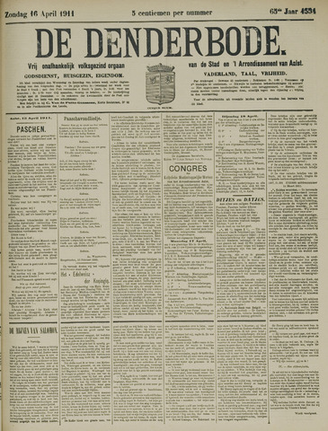 De Denderbode 1911-04-16