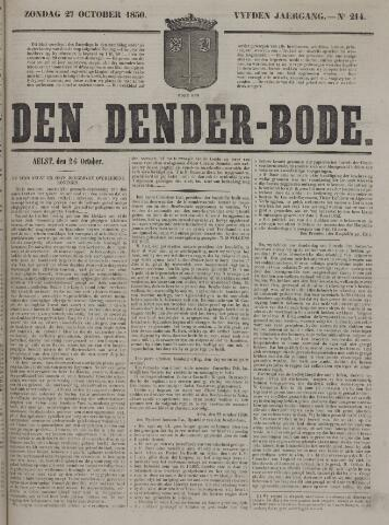 De Denderbode 1850-10-27