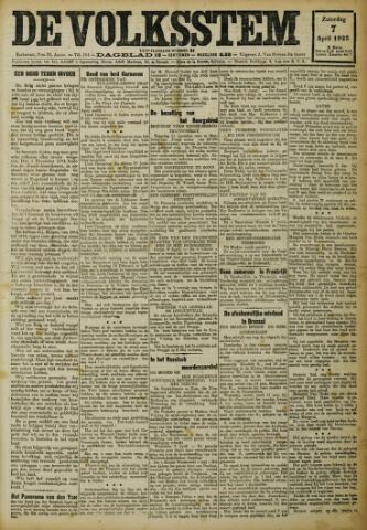 De Volksstem 1923-04-07