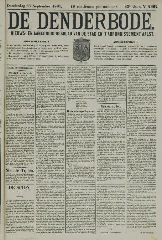 De Denderbode 1891-09-17