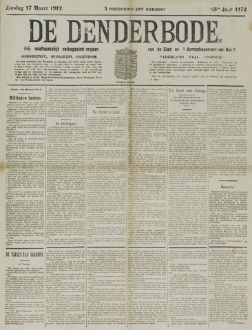 De Denderbode 1912-03-17