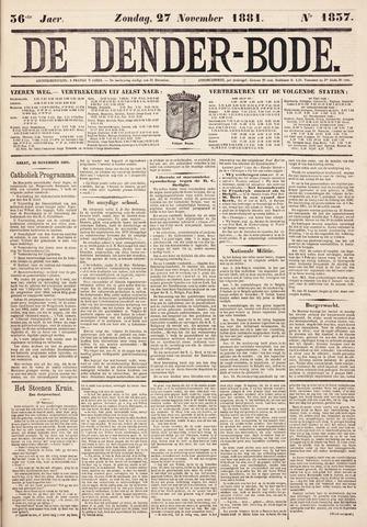 De Denderbode 1881-11-27