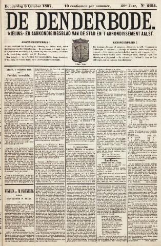 De Denderbode 1887-10-06