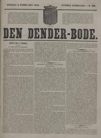 De Denderbode 1851-02-02
