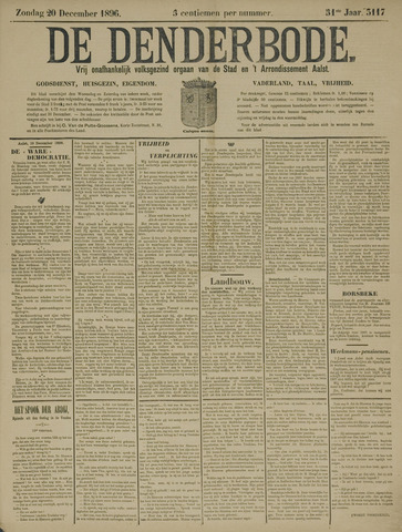 De Denderbode 1896-12-20