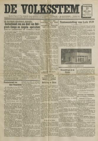 De Volksstem 1938-10-27
