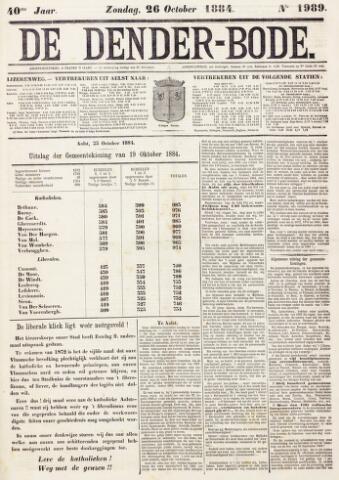 De Denderbode 1884-10-26