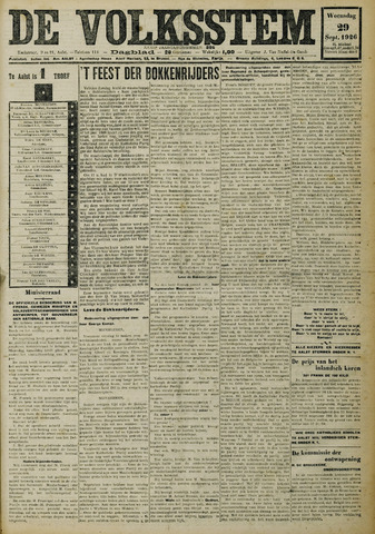 De Volksstem 1926-09-29