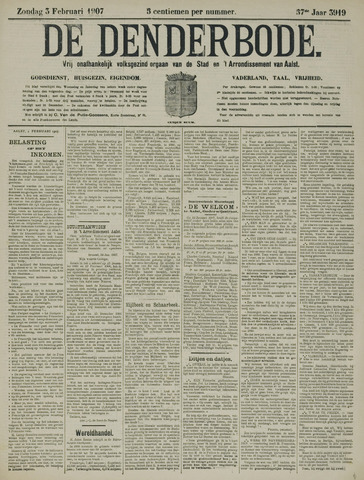 De Denderbode 1907-02-03