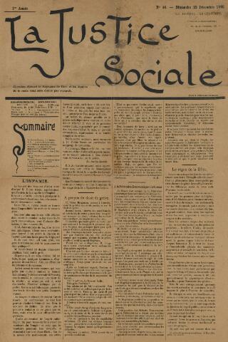 La Justice Sociale 1895