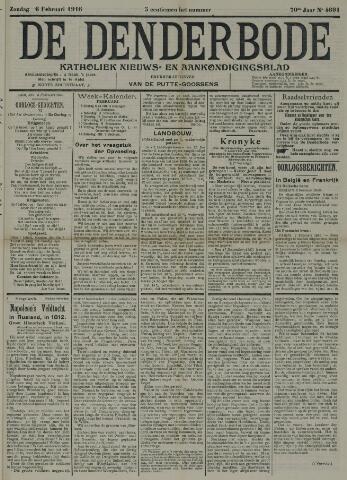 De Denderbode 1916-02-06