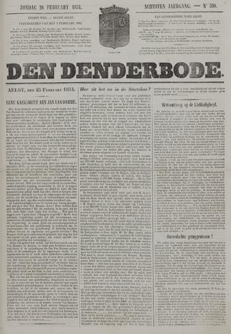 De Denderbode 1854-02-26