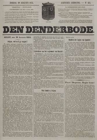De Denderbode 1854-08-20