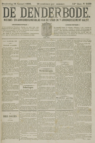 De Denderbode 1890-01-16